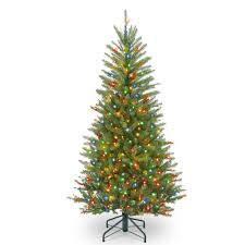 by the 4 5 ft pre lit dunhill fir slim artificial christmas tree