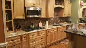 Slate Backsplash In Kitchen Cool Stacked Stone Backsplash 149 Stacked Slate Backsplash Tile A