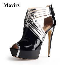 mavirs 2017 summer brand new peep toe women pumps large size braid