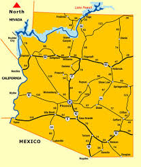 mileage map arizona distance map driving distance map