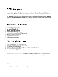 cdr samples cdr writing pdf pdf archive
