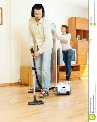 House Cleaning by Couple Are Doing House Cleaning Stock Photo Image 47212517