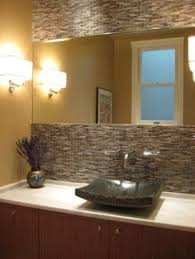 EyeCatching Bathroom Backsplash Ideas Stone Backsplash - Bathroom sink backsplash