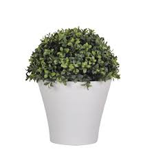 Topiary Balls With Flowers - amazon com house of silk flowers artificial half ball boxwood