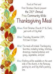 thanksgiving meal 2013 free meal program perishable food pantry