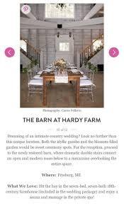 Barn Weddings In Maine Martha Stewart Hardy Farm Is Top 11 Maine Barn Wedding Venue