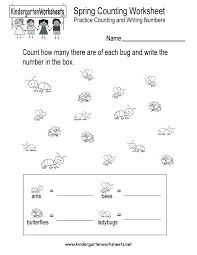 free kindergarten spring worksheets learning is fun with spring
