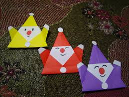 origami origami how to make an easy origami santa claus christmas