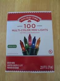 100 count mini lights new box holiday time 100 count multi color mini christmas lights