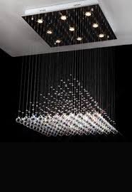Drop Ceiling Light by Pyramid Crystal Chandelier Lighting Rain Drop Ceiling Lighting