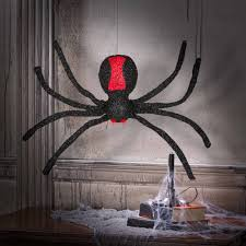 Gemmy Spider Outdoor Halloween Decorations by Gemmy Animated Dropping Spider Walmart Com