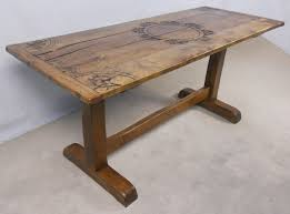 rustic oak dining table light oak refectory dining table sold