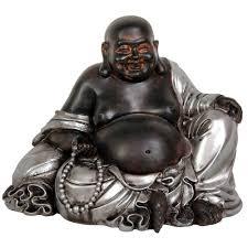 Home Decor Buddha Statue Oriental Furniture 7 In Sitting Lucky Buddha Decorative Statue