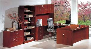 office adorable brown finish varnished wooden floor blue luxurious