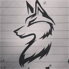 simple tribal wolf drawings clipartxtras