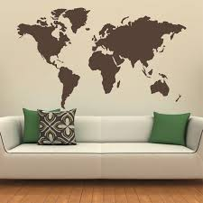 map wall decal etsy map the world silhouette wall decal globe