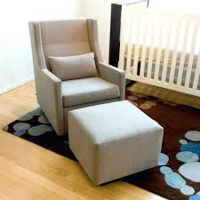 ottoman nursery chair and ottoman round back glider rocker with