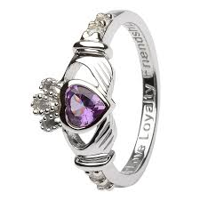 rings with love images Birthstone silver claddagh ring ls sl90 6 jpg