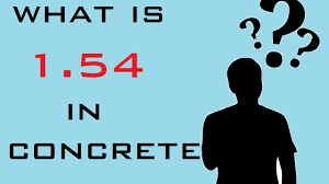 what is 1 54 in concrete how to calculate dry volume of concrete