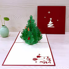 personalized keepsakes 3d happy tree christmas cards greeting handmade paper card
