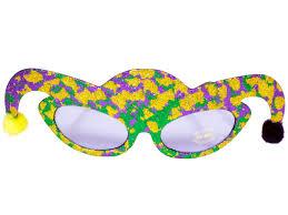 mardi gras glasses jester hat mardi gras purple lens sunglasses green purple gold b