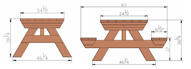 Plans For Making A Round Picnic Table by Plans For A Picnic Table And Benches Friendly Woodworking Projects