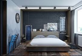 excellent dark bedroom with texture interior design features
