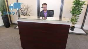 Office Furniture Reception Desk by Glass Top Reception Desk Officefurniture Com Youtube