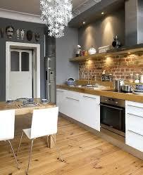 cuisine en brique cuisine industrielle brique cuisine blanc bois brique picslovin for