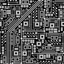 robot circuit board black and white wallpaper robyriker
