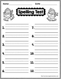 best 25 spelling test template ideas on pinterest english