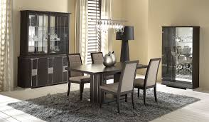 Black And White Dining Room Sets Rectangular White Polished Wooden Dining Table Modern Dining Room