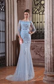 Light Blue Mermaid Dress Sequin Petals Floral Sky Blue Luxury Mermaid Evening Dress With