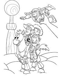 woody jessie buzz bullseye toy story 2 played andy coloring