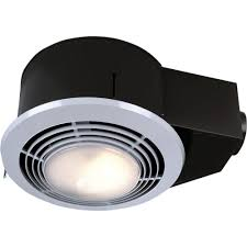 Bathroom Light And Heater 100 Cfm Ceiling Exhaust Fan With Light And Heater Qt9093wh The