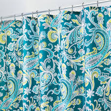 Paisley Shower Curtain Blue by Harper Paisley Shower Curtain Interdesign