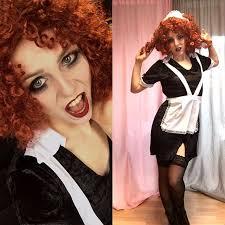 diy rocky horror show magenta halloween costume idea diy