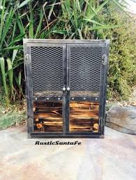 Rustic Bar Cabinet Buy A Hand Crafted Industrial Hand Made Liquor Cabinet Rustic