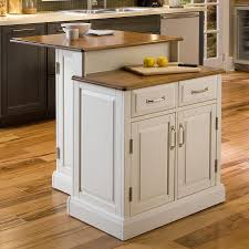 shop home styles white midcentury kitchen island at lowes com