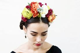 day of the dead headband frida kahlo flower crown large colorful day of the dead