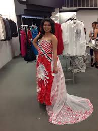 recycled material dress miss new mexico teen latina pinterest