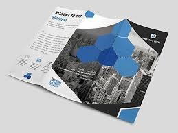 free creative tri fold brochure template free psd ui download