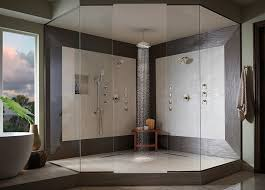 High End Bathroom Showers Going Deluxe Luxury Trends In Bathroom Design Riverbend Home