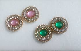 make stud earrings how to make kundan quilled stud to match traditional and