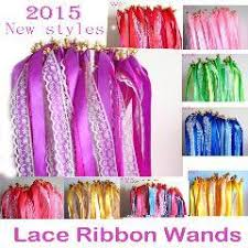 ribbon sticks 50pcs of lace wedding ribbon wands wedding confetti twiring