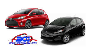 toyota yaris or ford 2015 ford vs 2015 toyota yaris brown