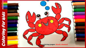 sea animals coloring pages how to color crab coloring pages