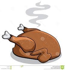 best cartoon cooked turkey isolated white whiteneps vector
