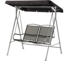 buy malibu 2 seater garden swing chair black at argos co uk
