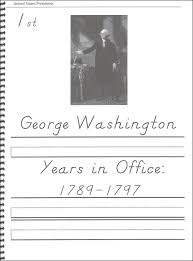 45 united states presidents character writing worksheets d u0027nealian
